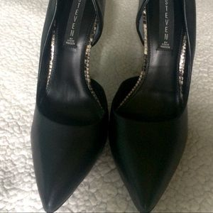 Steve Madden Daisie Black Leather